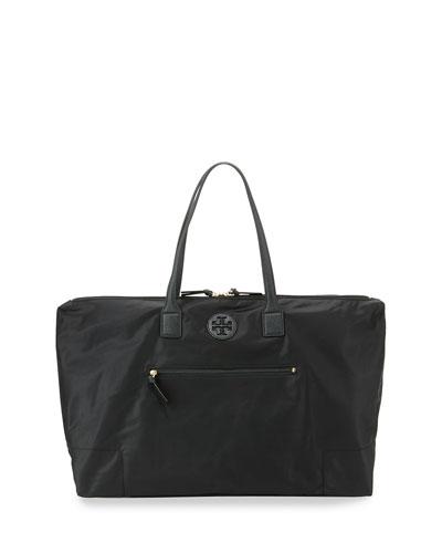 Ella Packable Overnight Satchel Bag, Black