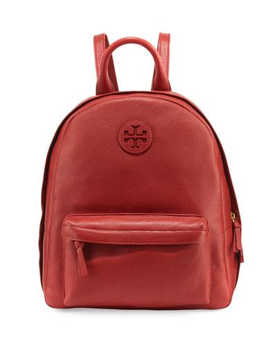 Zip-Around Leather Backpack, Light Redwood