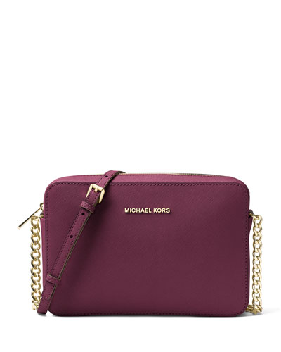 Jet Set Travel Large Crossbody Bag, Plum