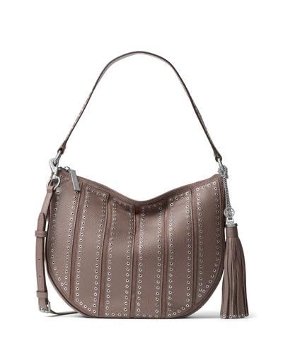 Brooklyn Medium Grommet Convertible Hobo Bag, Cinder