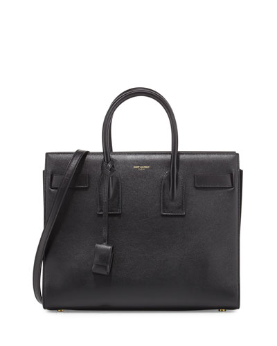 Sac de Jour Small Leather Satchel Bag, Black