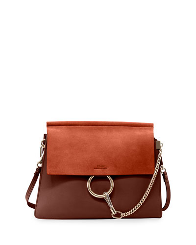 Faye Medium Flap Shoulder Bag, Tobacco