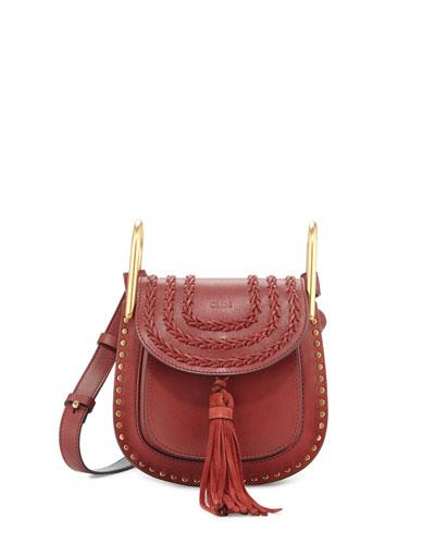 Hudson Mini Leather Shoulder Bag, Sienna