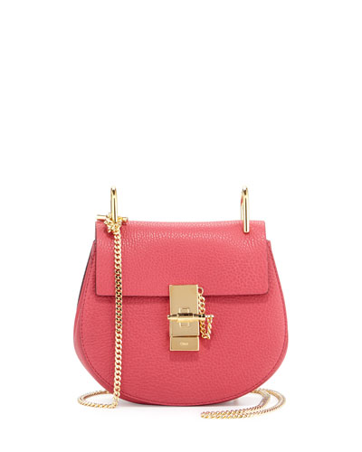 Drew Mini Lambskin Shoulder Bag, Pink
