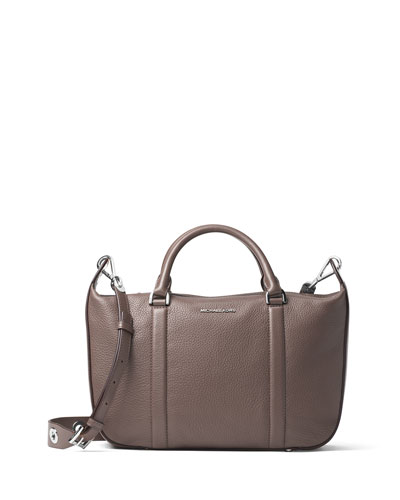 Raven Large Leather Satchel Bag, Cinder