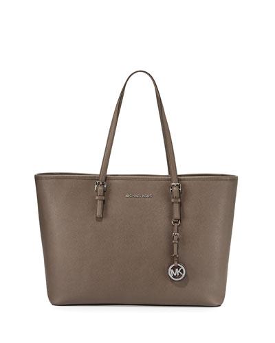 Jet Set Travel Medium Saffiano Tote Bag, Cinder
