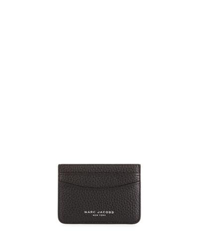 Gotham Leather Card Case, Black