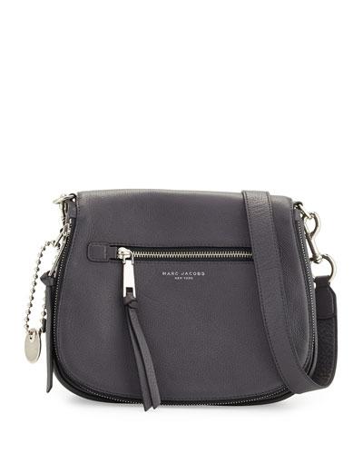 Recruit Leather Saddle Bag, Shadow