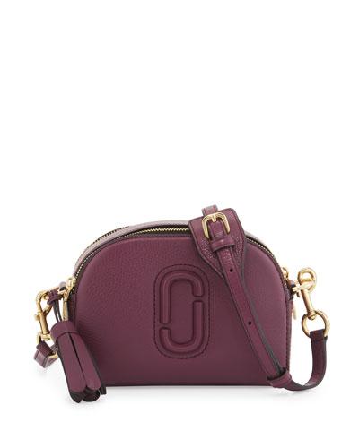 Shutter Small Leather Camera Bag, Iris