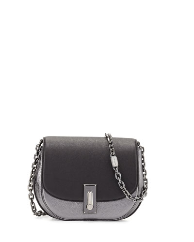 West End The Jane Metallic Saddle Bag, Black/Multi