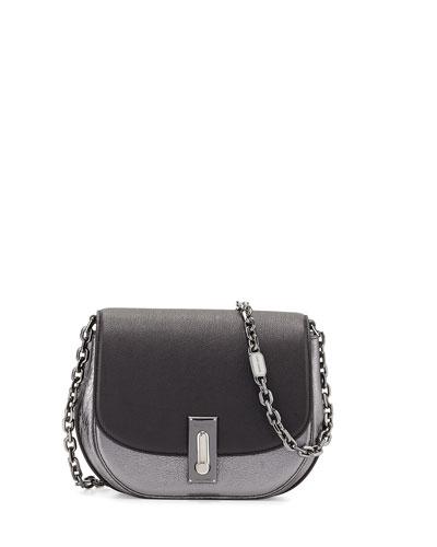 West End The Jane Metallic Saddle Bag, Black/Multi