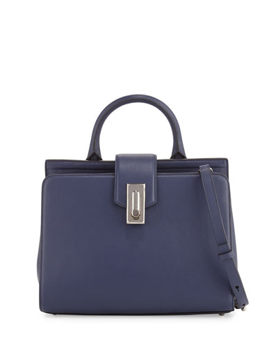 West End Small Top-Handle Satchel Bag, Midnight Blue