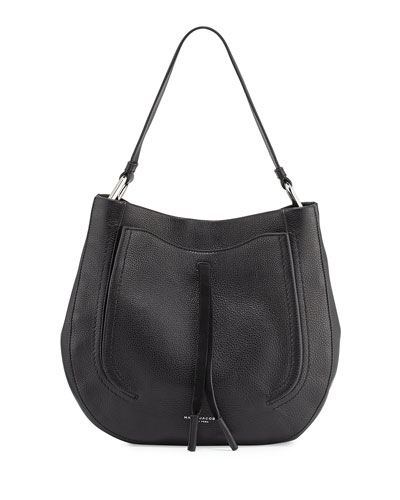 Maverick Leather Hobo Bag, Black