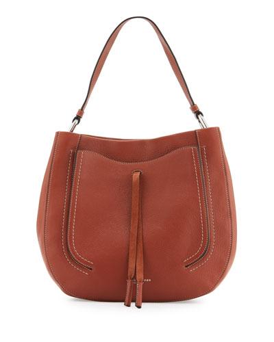 Maverick Leather Hobo Bag, Cognac