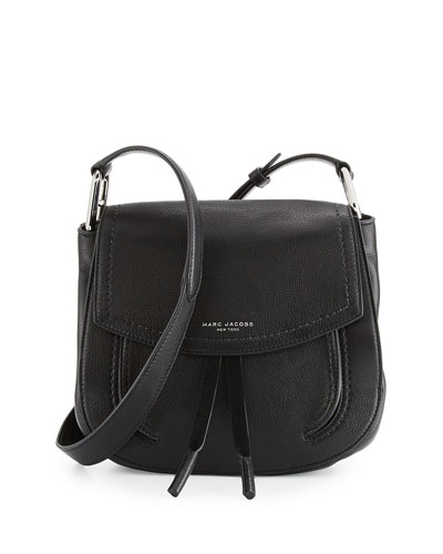 Maverick Leather Shoulder Bag, Black