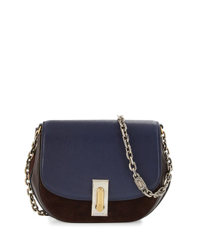 West End The Jane Saddle Bag, Midnight Blue/Mulberry