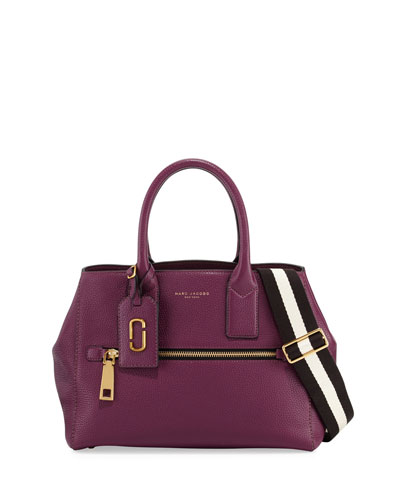 Gotham Leather Tote Bag, Iris