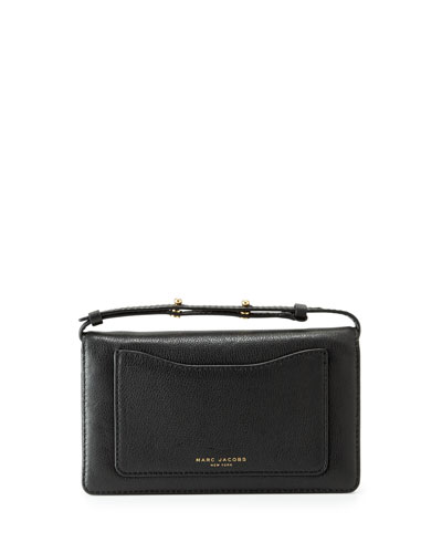 Recruit Leather Crossbody Wallet, Black