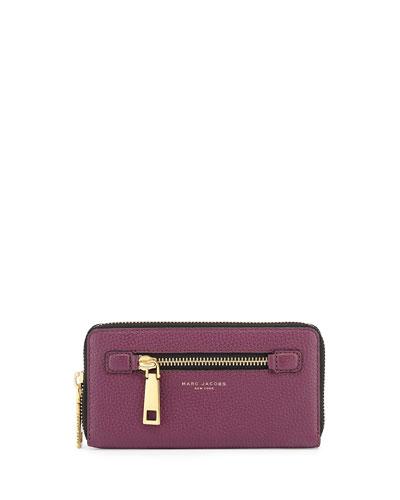 Gotham Leather Continental Wallet, Iris