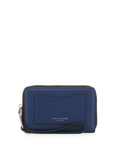 Recruit Zip-Around Phone Wristlet Wallet, Dark Blue