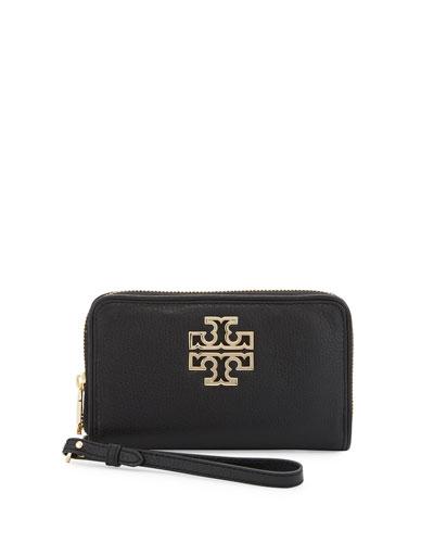 Britten Zip Phone Wristlet, Black