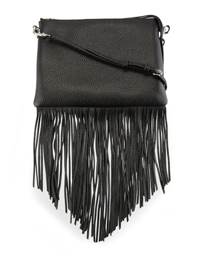 Jon Leather Fringe Crossbody Bag