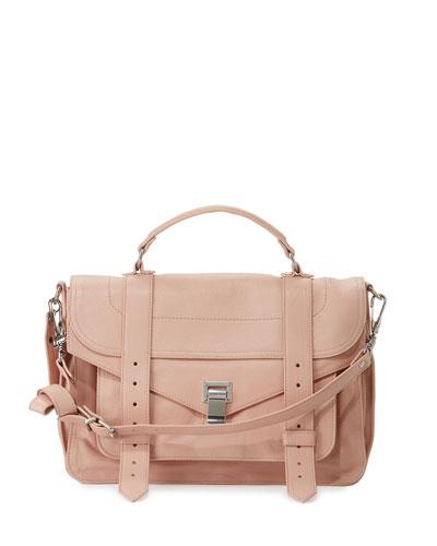 PS1 Medium Satchel Bag, Light Pink