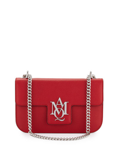 Insignia Small Chain Satchel Bag, China Red