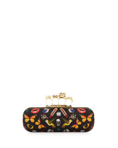 Obsession Knuckle Box Clutch Bag, Black/Multi