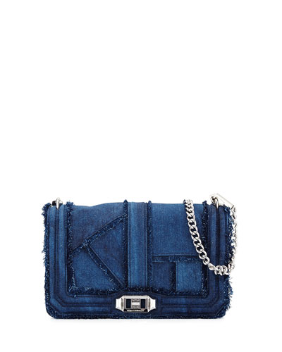 Love Denim Crossbody Bag