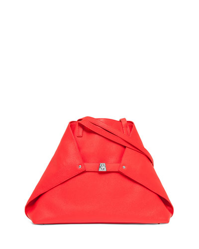 Ai Medium Soft Leather Tote Bag, Scarlet