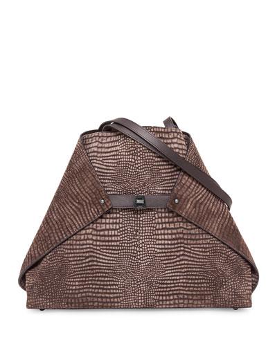 Ai Medium Reversible Shoulder Bag, Mocha