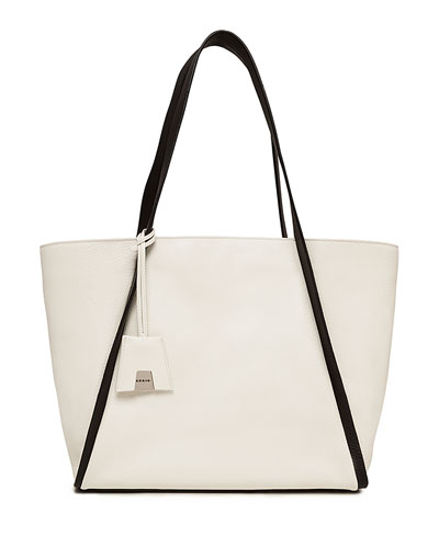 Alex Medium Leather Tote Bag, Olive