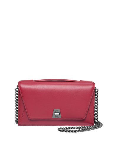 Anouk City Calfskin Shoulder Bag, Crimson Red