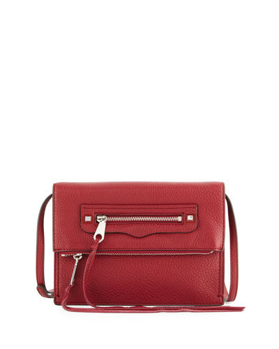 Regan Small Leather Clutch Bag, Tawny Port