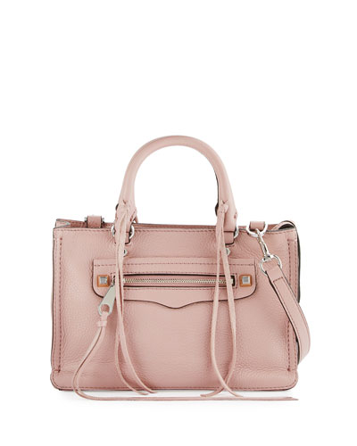 Regan Micro Leather Satchel  Bag, Vintage Pink