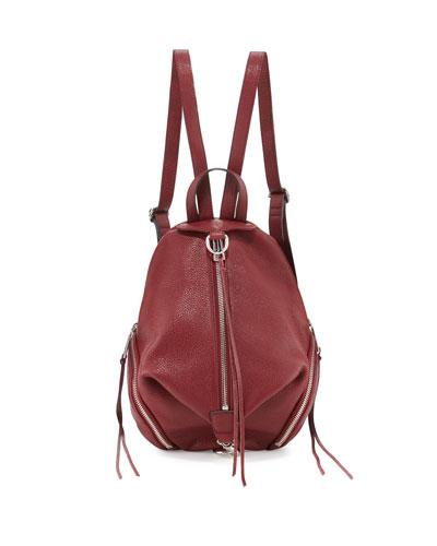 Julian Medium Leather Backpack, Tawny Port
