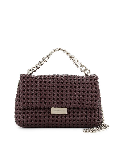 Bex Small Woven Flap Shoulder Bag