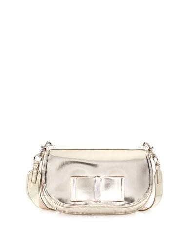 Anna Leather Shoulder Bag, Oro