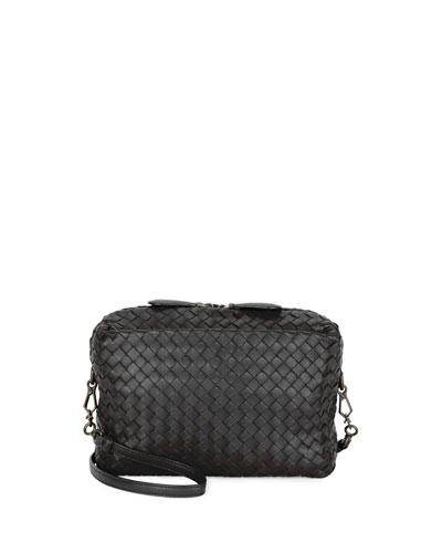 Small Intrecciato Camera Bag, Black