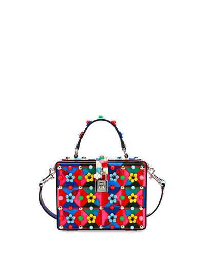 Dolce Box Maiolica-Print Top-Handle Satchel Bag, Multi