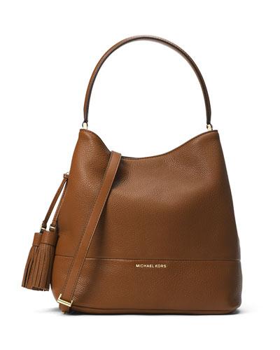 Kip Large Leather Bucket Bag, Luggage