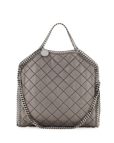 Falabella Fold-Over Tote Bag, Light Gray