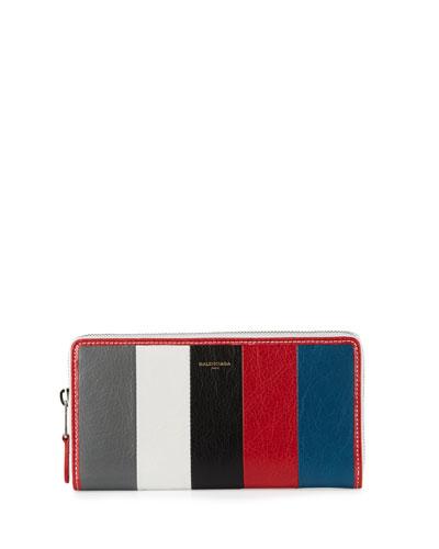 Bazar Zip-Around Continental Wallet, Gray/White/Black/Red/Blue ...