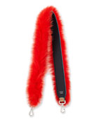 Strap You Fox-Fur Shoulder Strap for Handbag, Navy/Red