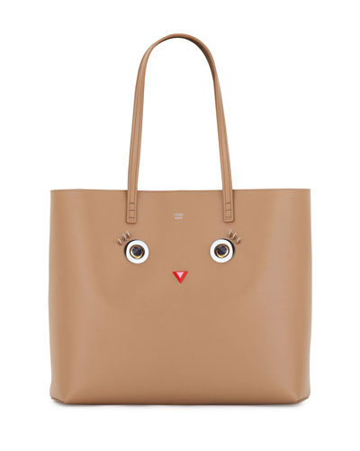Faces Leather Tote Bag, Tan