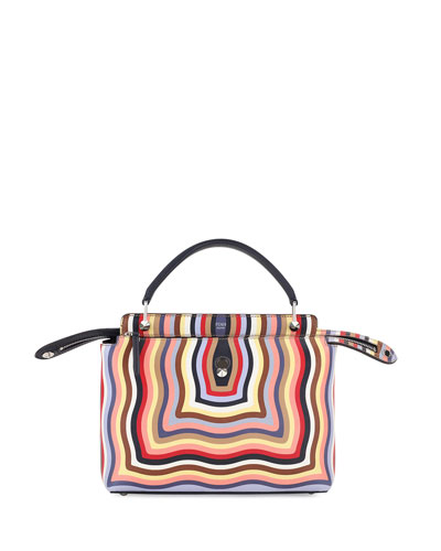 Dotcom Medium Hypnotic Satchel Bag, Multi