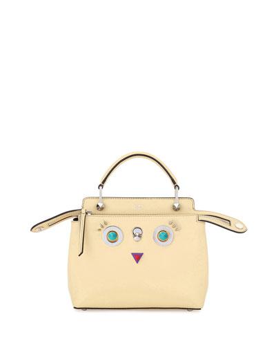 Faces Dotcom Small Vitello Satchel Bag, Yellow