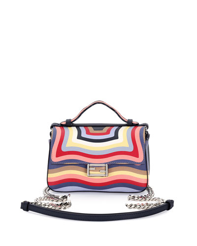 Double Baguette Micro Hypnotic Shoulder Bag, Multi