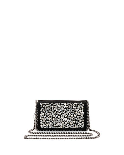 Falabella Jeweled Crossbody Clutch Bag, Black